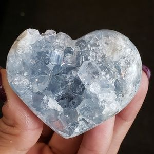 Crystal Celestite Heart Small
